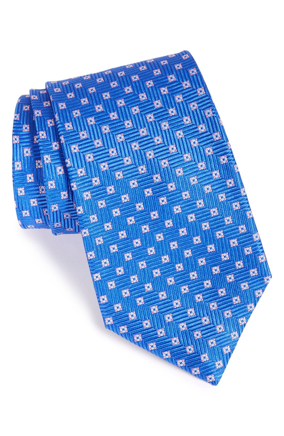 Nordstrom Men's Shop Chevron & Floral Medallion Tie (X-Long)