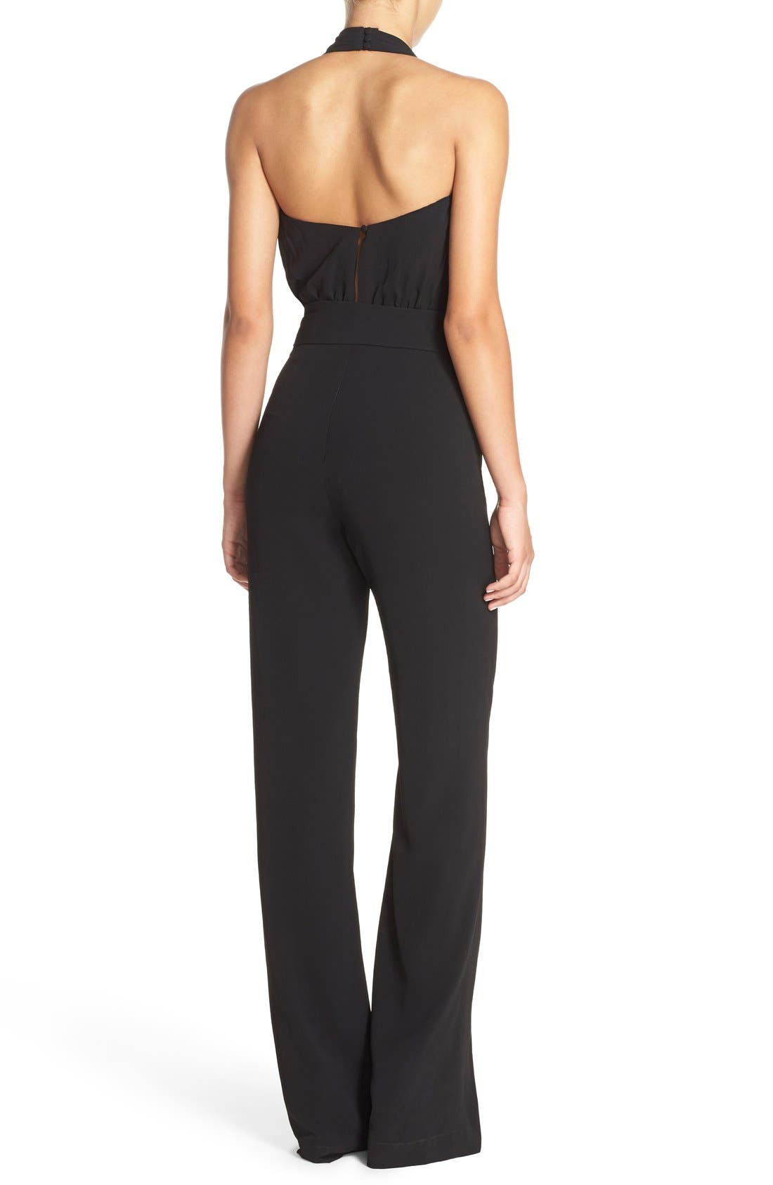 Alternate Image 2  - Misha Collection 'Caprice' Cutout Halter Jumpsuit