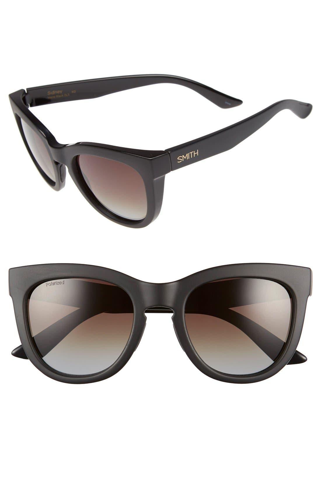 Alternate Image 1 Selected - Smith 'Sidney' 55mm Polarized Cat Eye Sunglasses