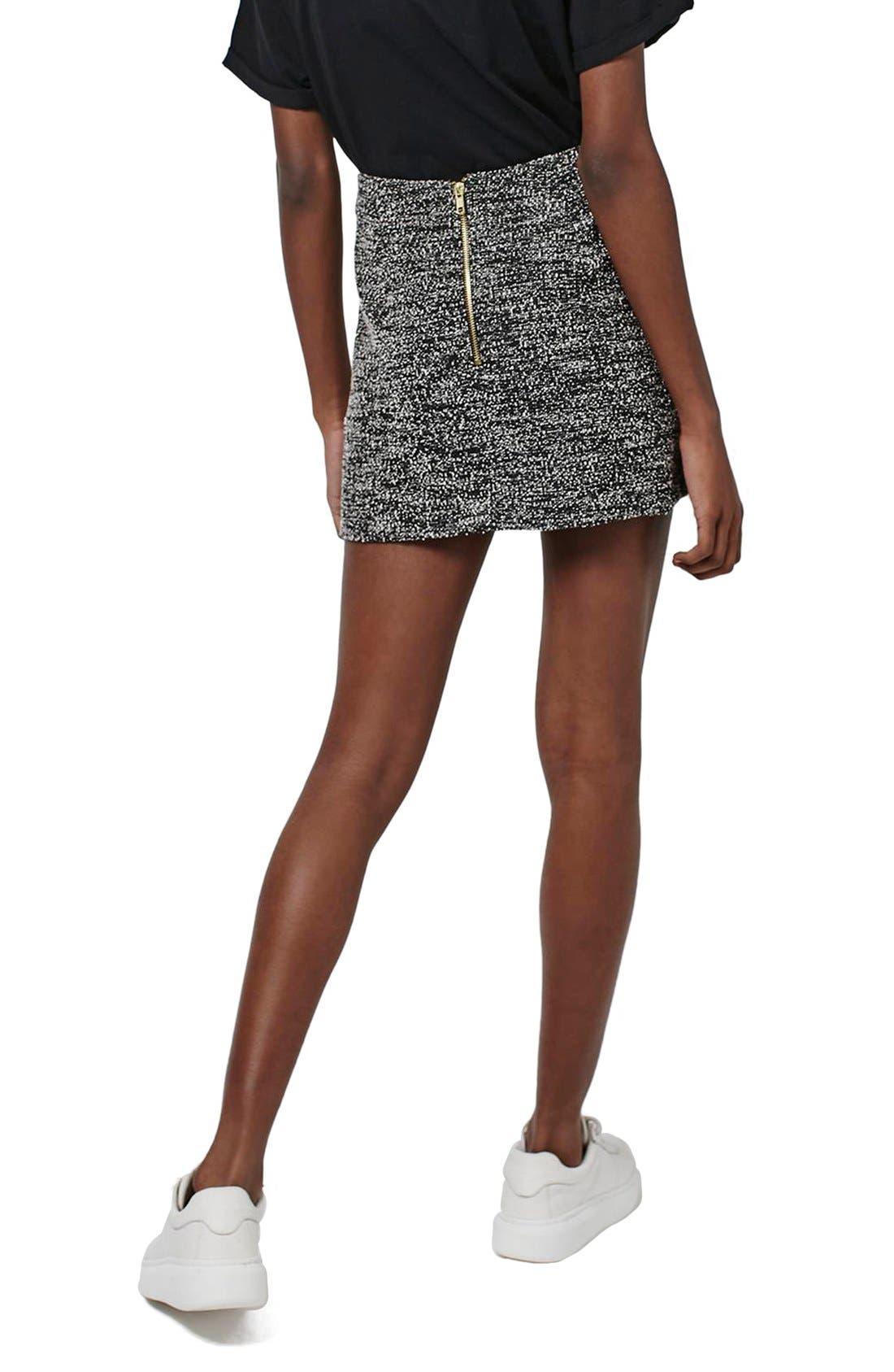 Alternate Image 3  - Topshop A-Line Bouclé Skirt (Petite)