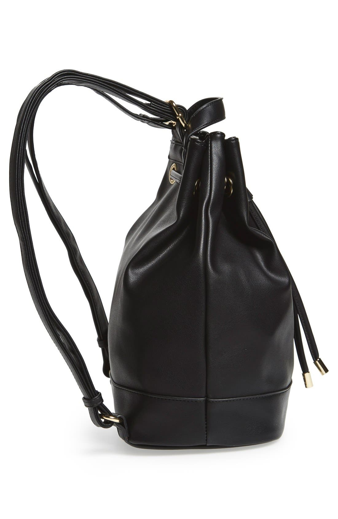 Alternate Image 6  - BP. Faux Leather Drawstring Backpack