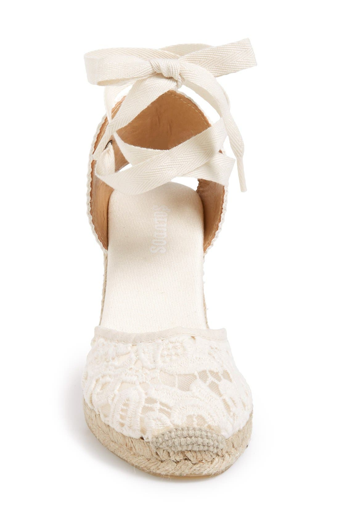 Alternate Image 3  - Soludos Lace Wedge Espadrille Sandal (Women)