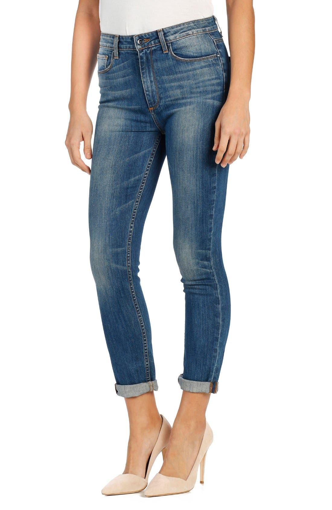 Alternate Image 1 Selected - PAIGE 'Carter' High Rise Crop Slim Jeans (Tallulah)