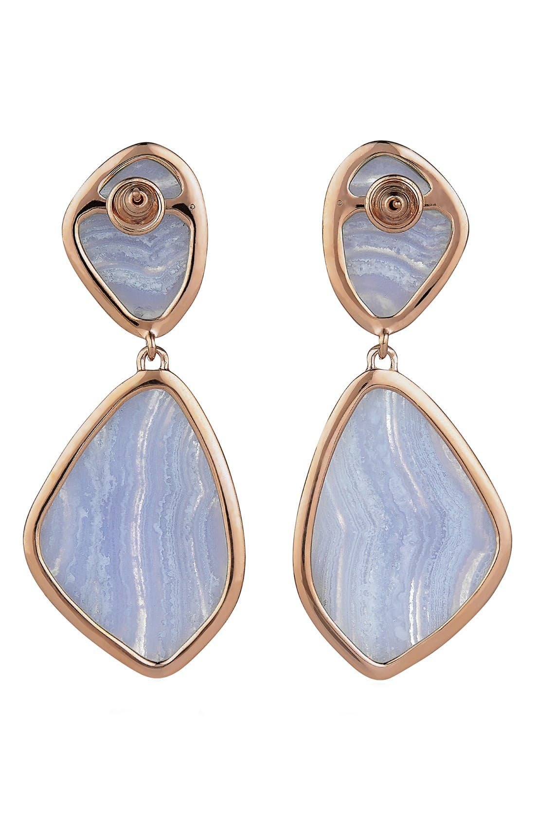 Alternate Image 3  - Monica Vinader 'Siren' Semiprecious Stone Double Drop Earrings