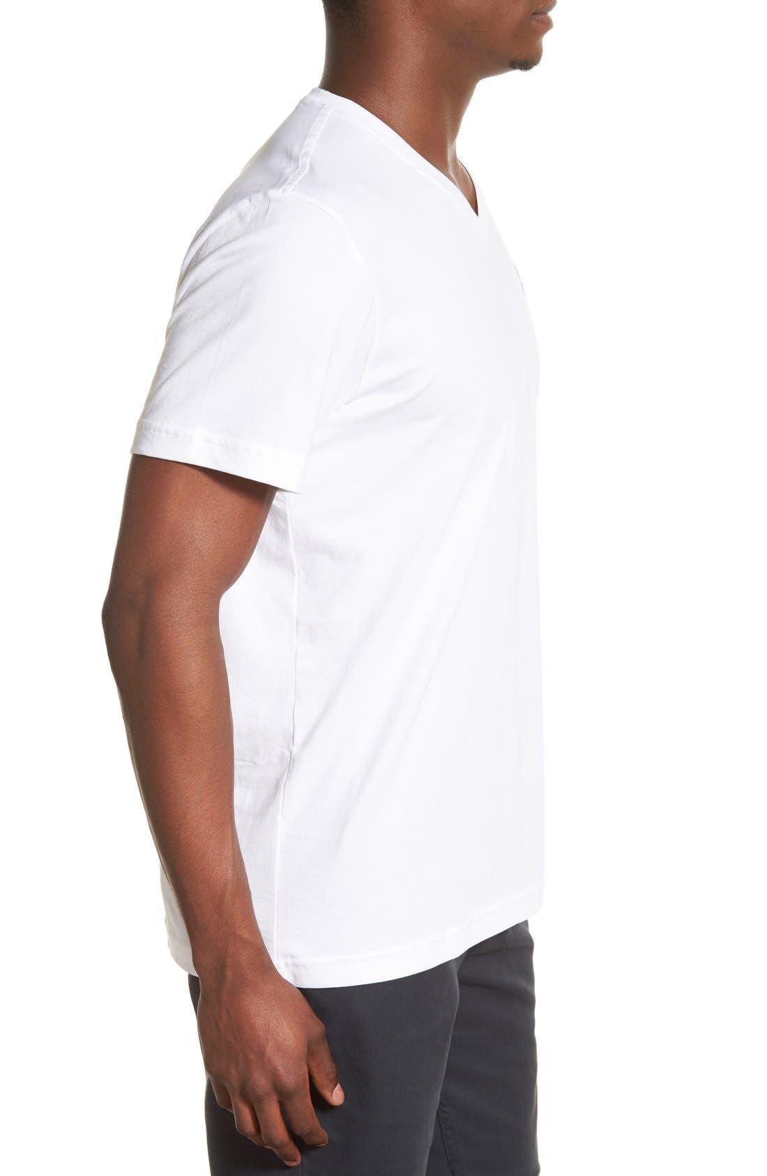 Alternate Image 3  - Psycho Bunny Classic Pima Cotton V-Neck T-Shirt