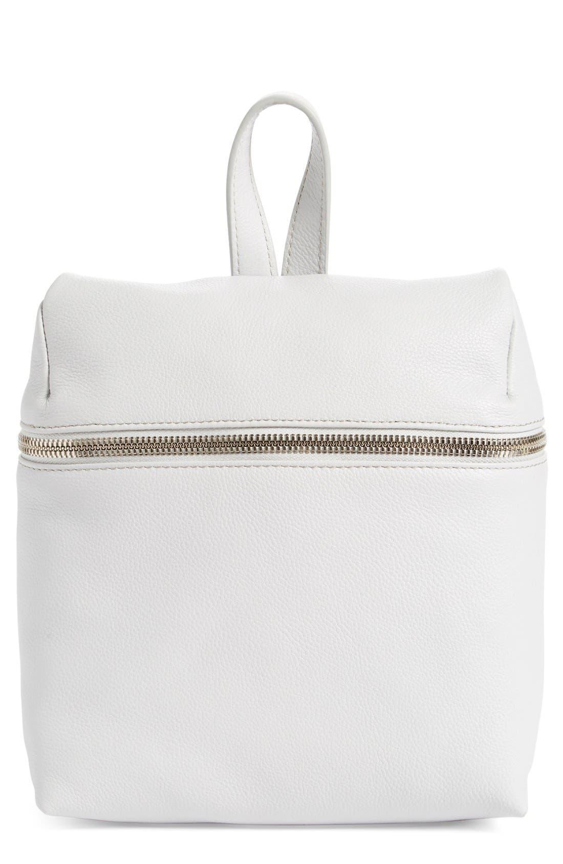 Alternate Image 1 Selected - KARA Small Pebbled Leather Backpack