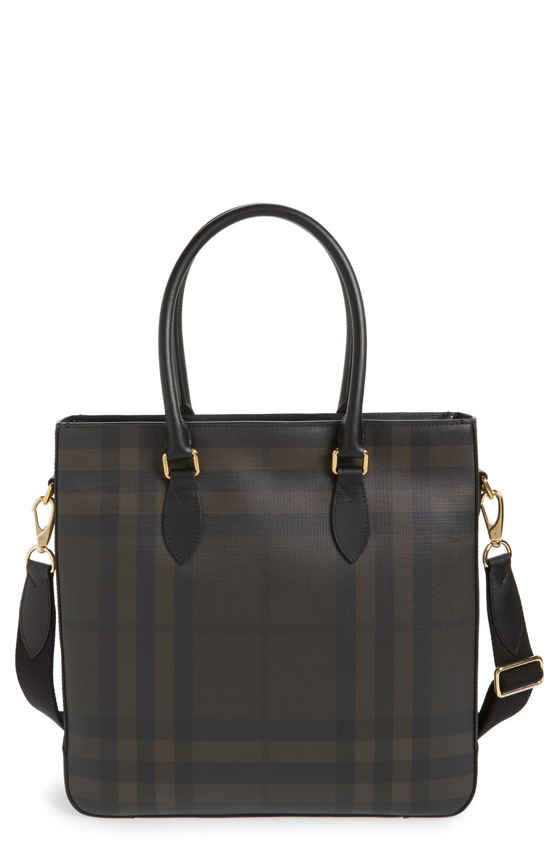 Burberry 'Kenneth' Check Print Tote