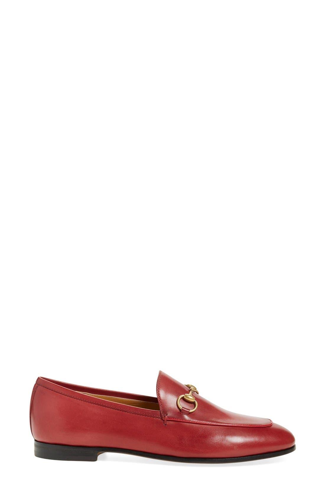 Alternate Image 4  - Gucci 'Jordaan' Loafer (Women)
