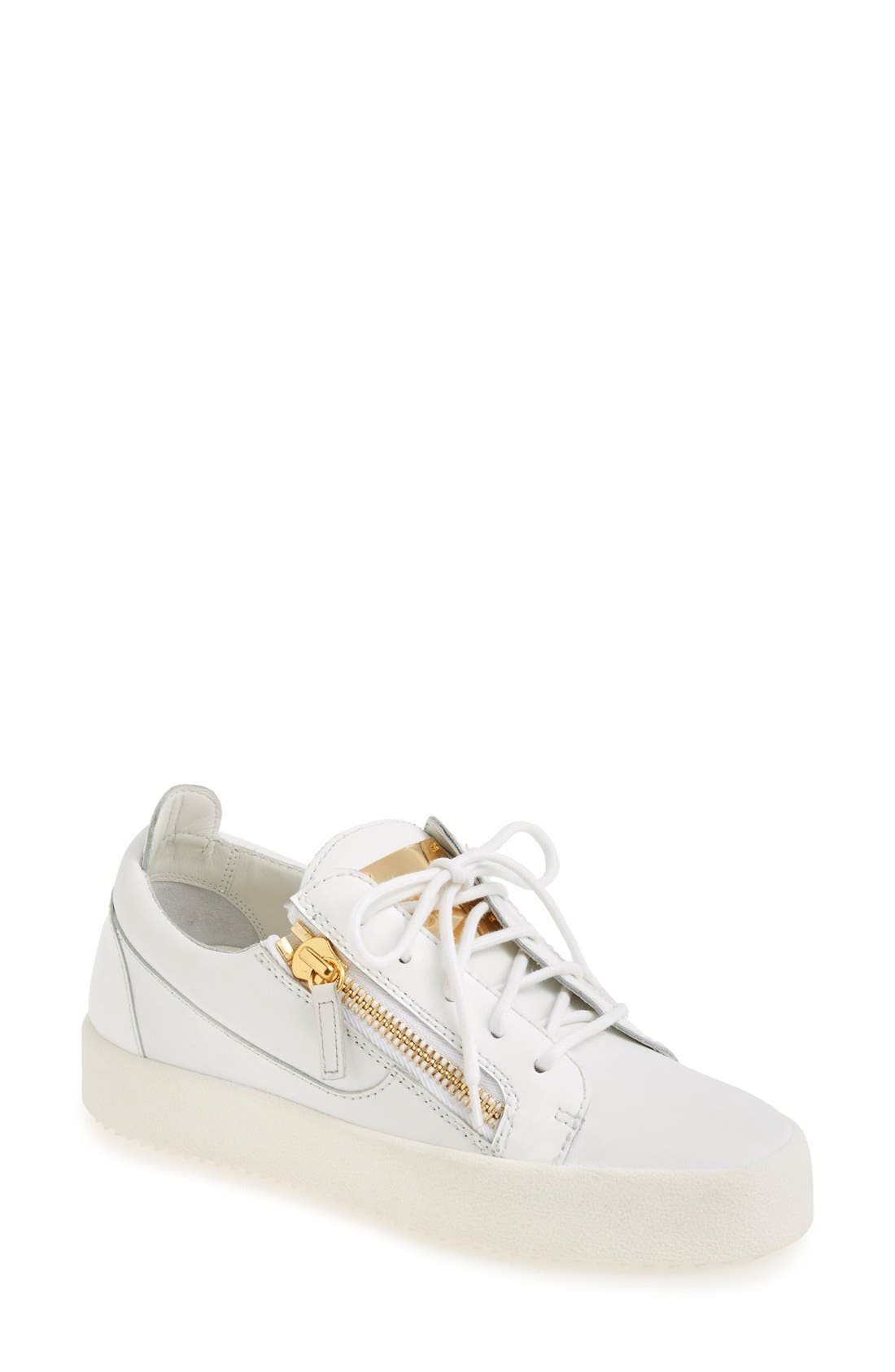 GIUSEPPE ZANOTTI 'May London' Snake Embossed Low Top