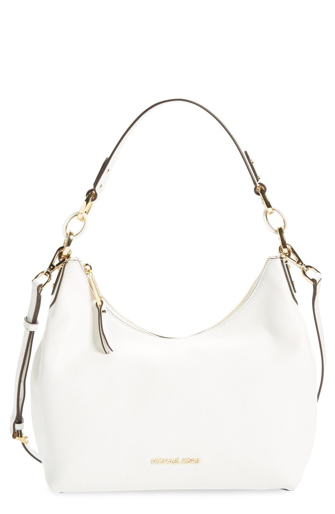Alternate Image 1 Selected - MICHAEL Michael Kors 'Medium Isabella' Convertible Leather Shoulder Bag