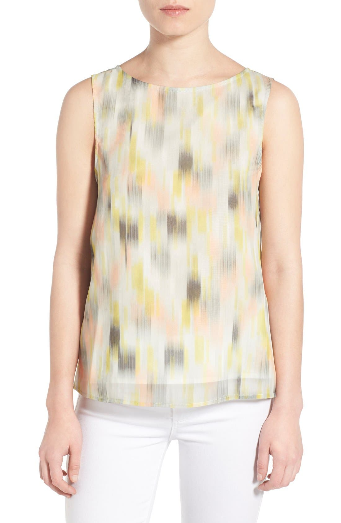 Main Image - cupcakes and cashmere 'Enigma' Chiffon Tank