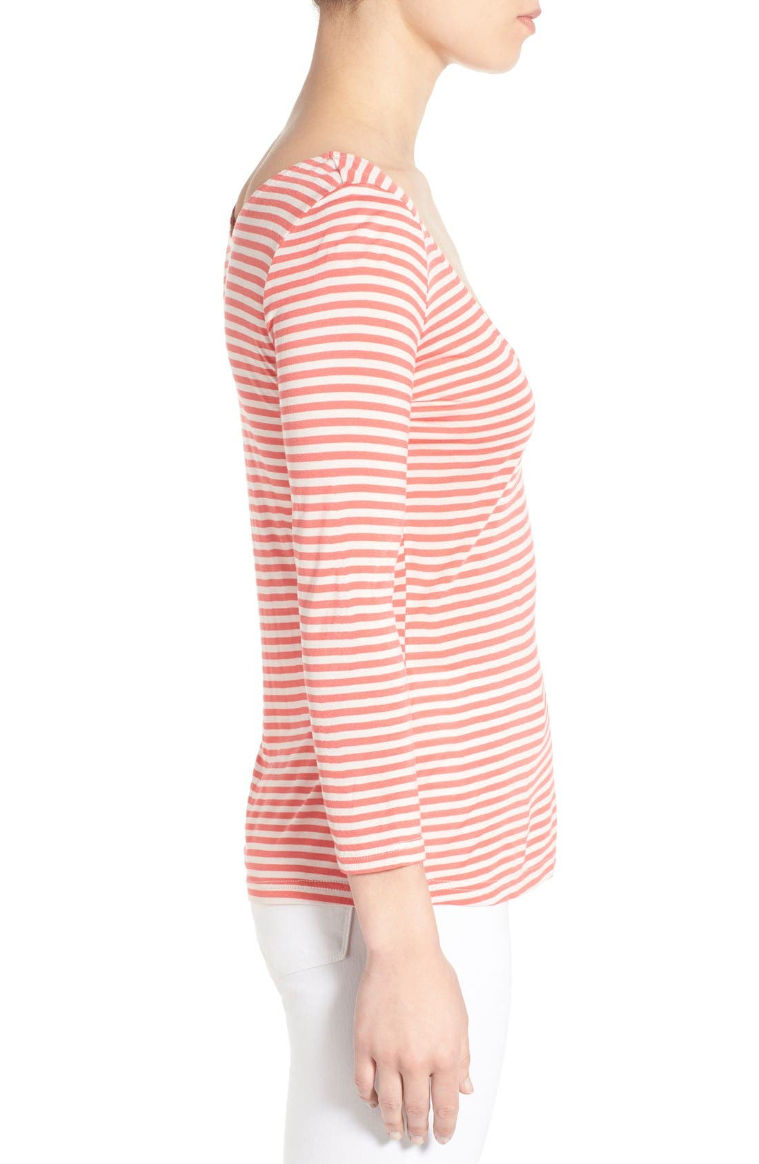 Alternate Image 3  - cupcakes and cashmere 'Wink' Stripe Scoop Neck Top