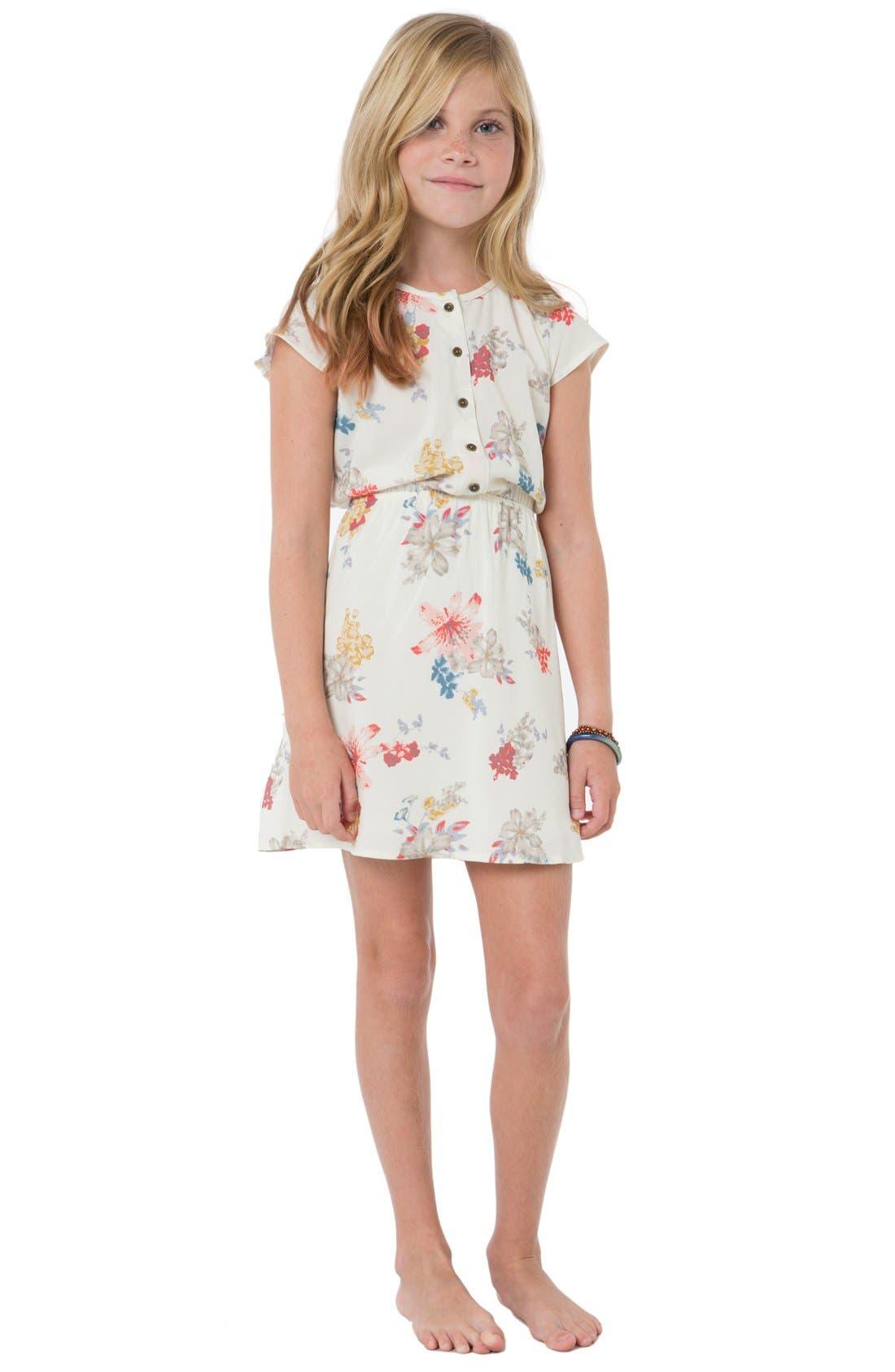 Lightweight Summer Bedding O'Neill 'Rayne' Floral Print Cap Sleeve Dress (Little ...