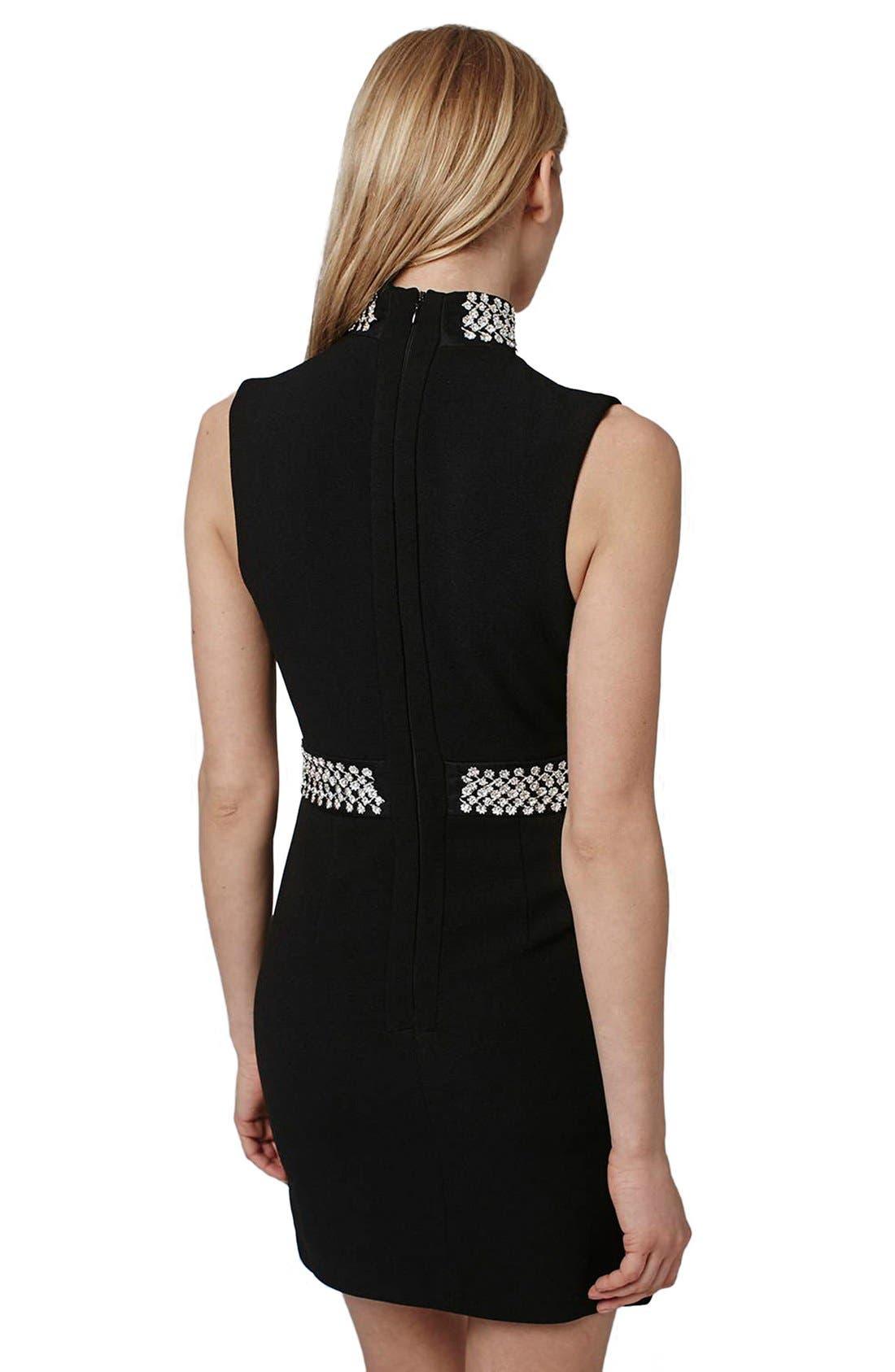 Alternate Image 3  - Topshop Embellished Neck Plunge Body-Con Dress