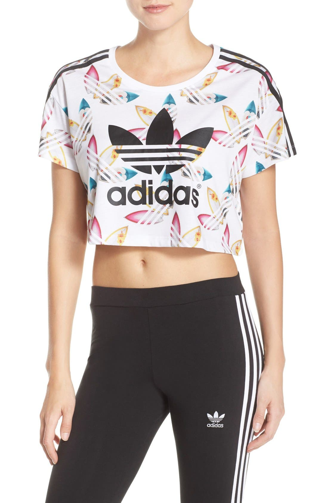 Alternate Image 1 Selected - adidas Originals 'Surf' Crop Tee