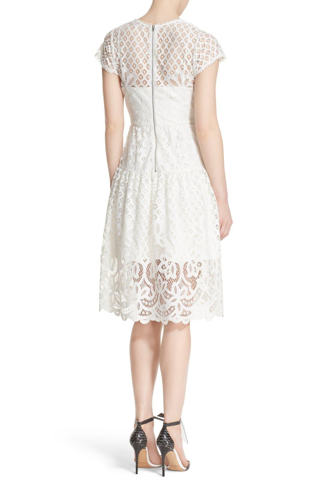Alternate Image 2  - Parker 'Talulah' Lace Fit & Flare Dress