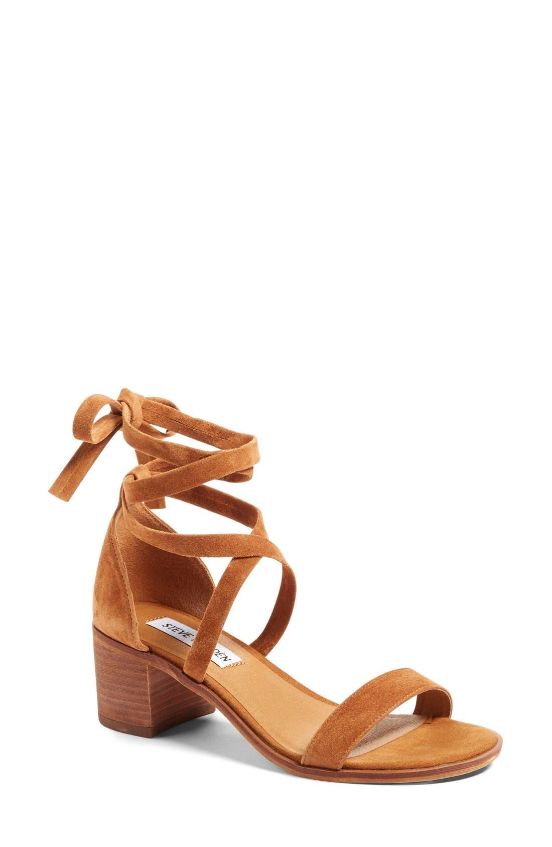 Alternate Image 1 Selected - Steve Madden 'Rizzaa' Ankle Strap Sandal (Women)