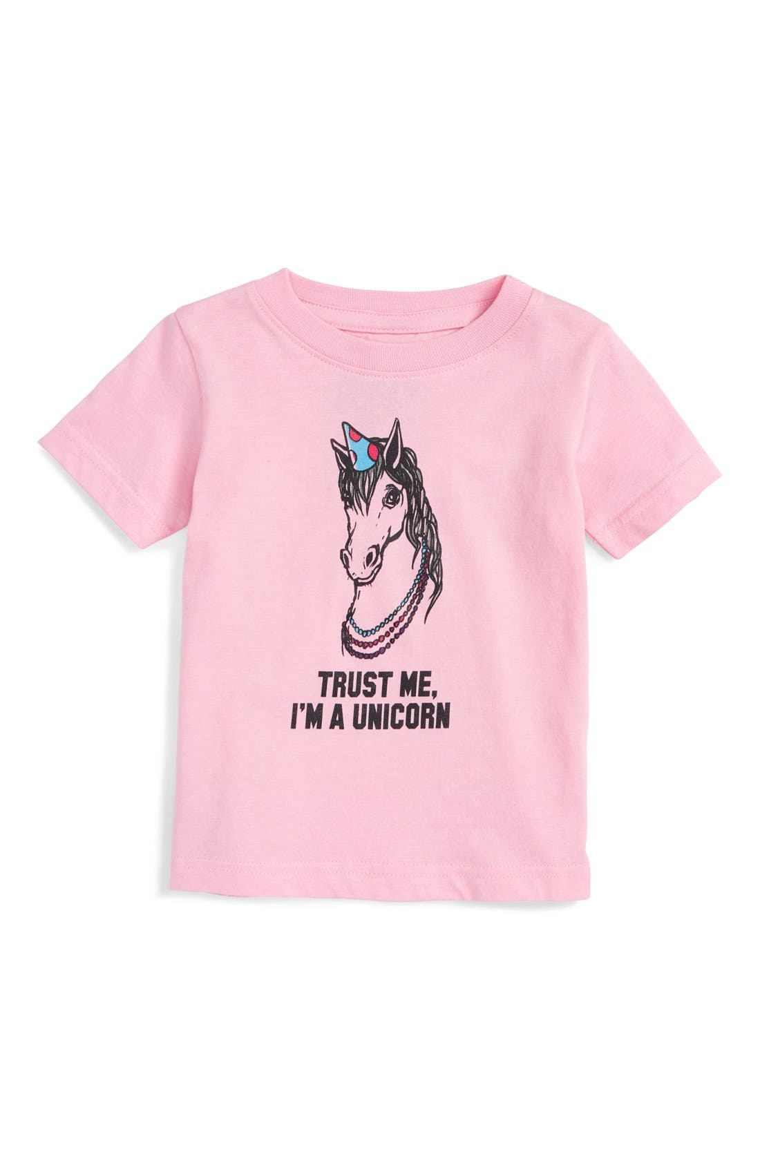 Kid Dangerous 'Unicorn' Graphic Tee (Baby Girls)