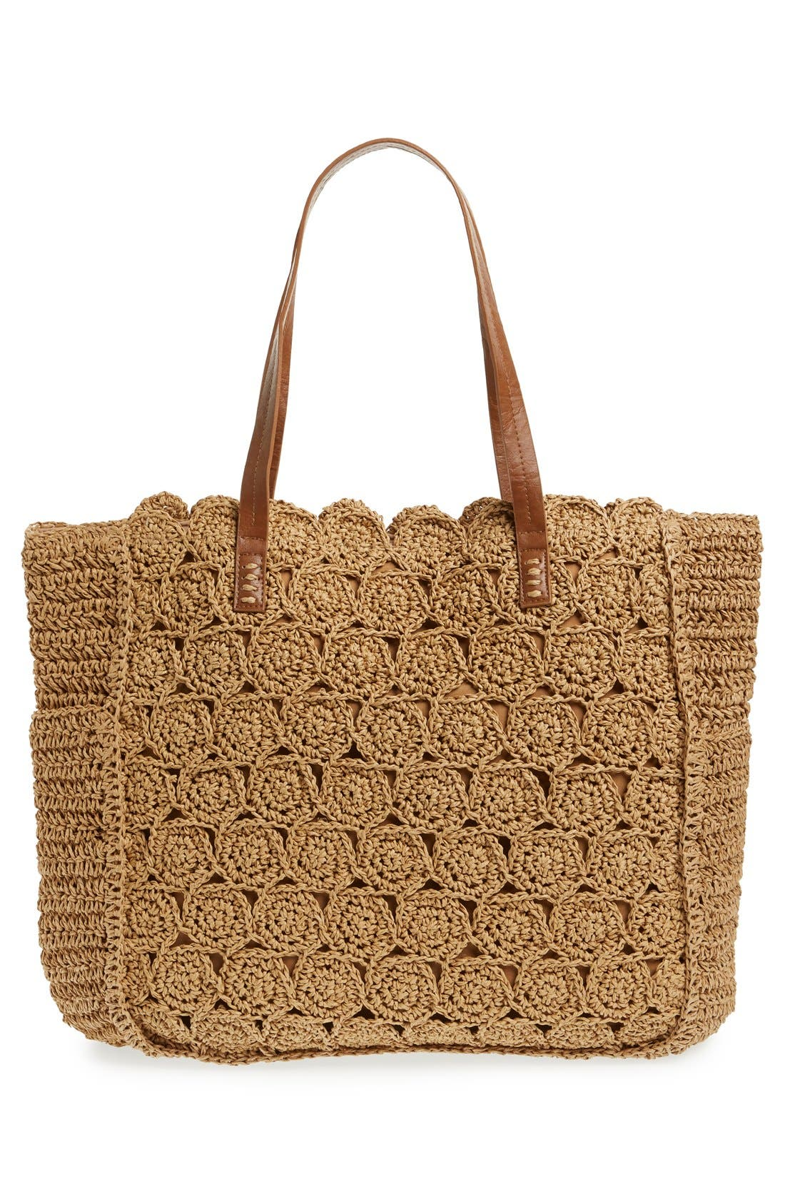 Alternate Image 2  - Straw Studios Crochet Tote