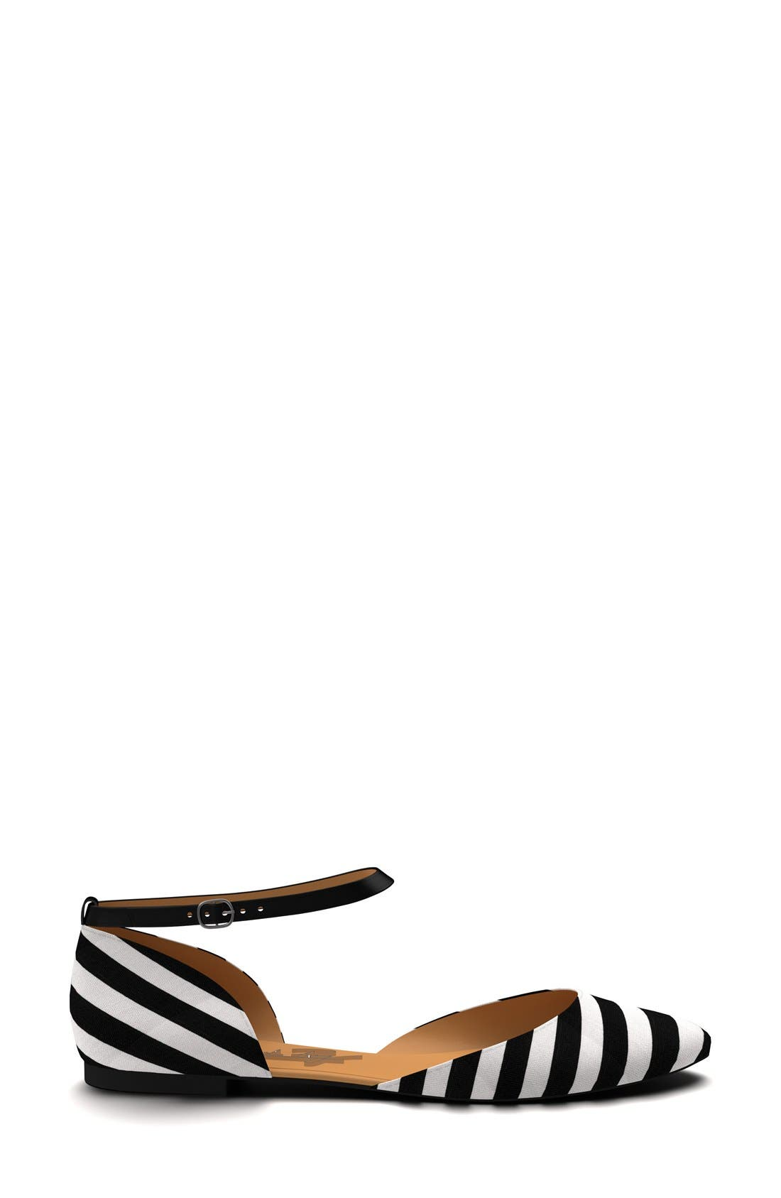 Alternate Image 4  - Shoes of Prey Ankle Strap d'Orsay Flat (Women)