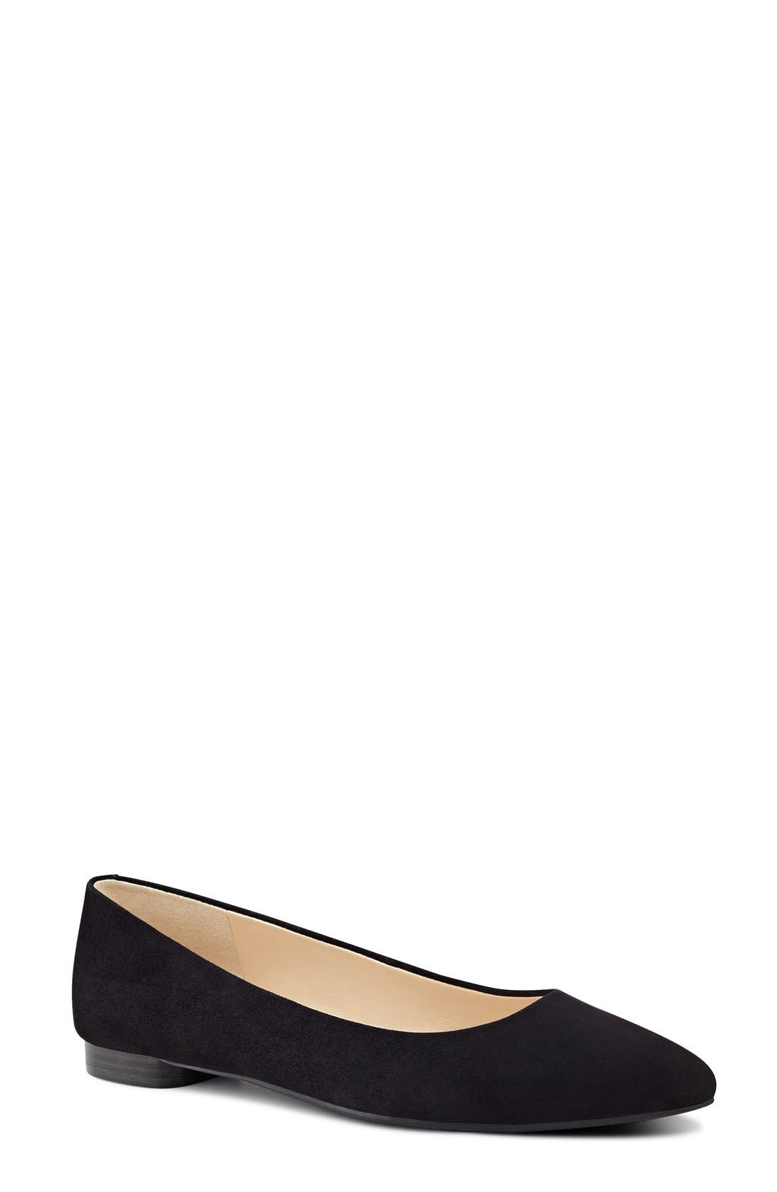 Alternate Image 1 Selected - Nine West 'Onlee' Pointy Toe Flat (Women)