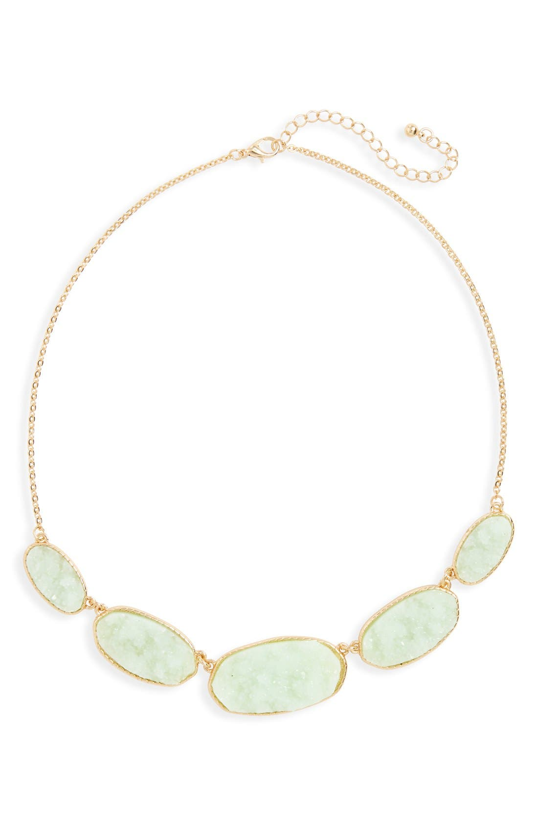 Alternate Image 1 Selected - BP. Drusy Stone Statement Necklace