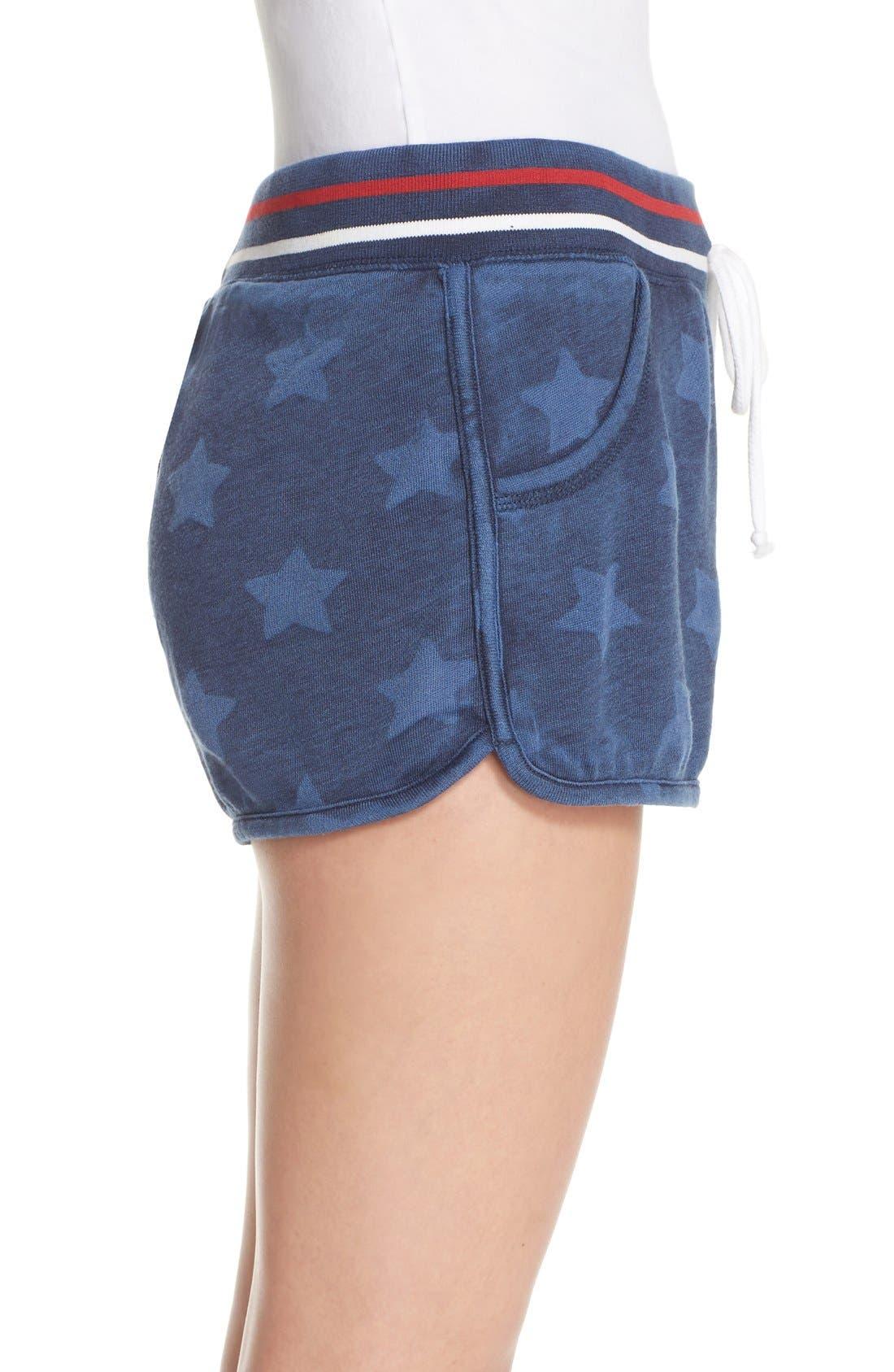 Alternate Image 3  - PJ Salvage 'Road Trip' Star Print Pajama Shorts