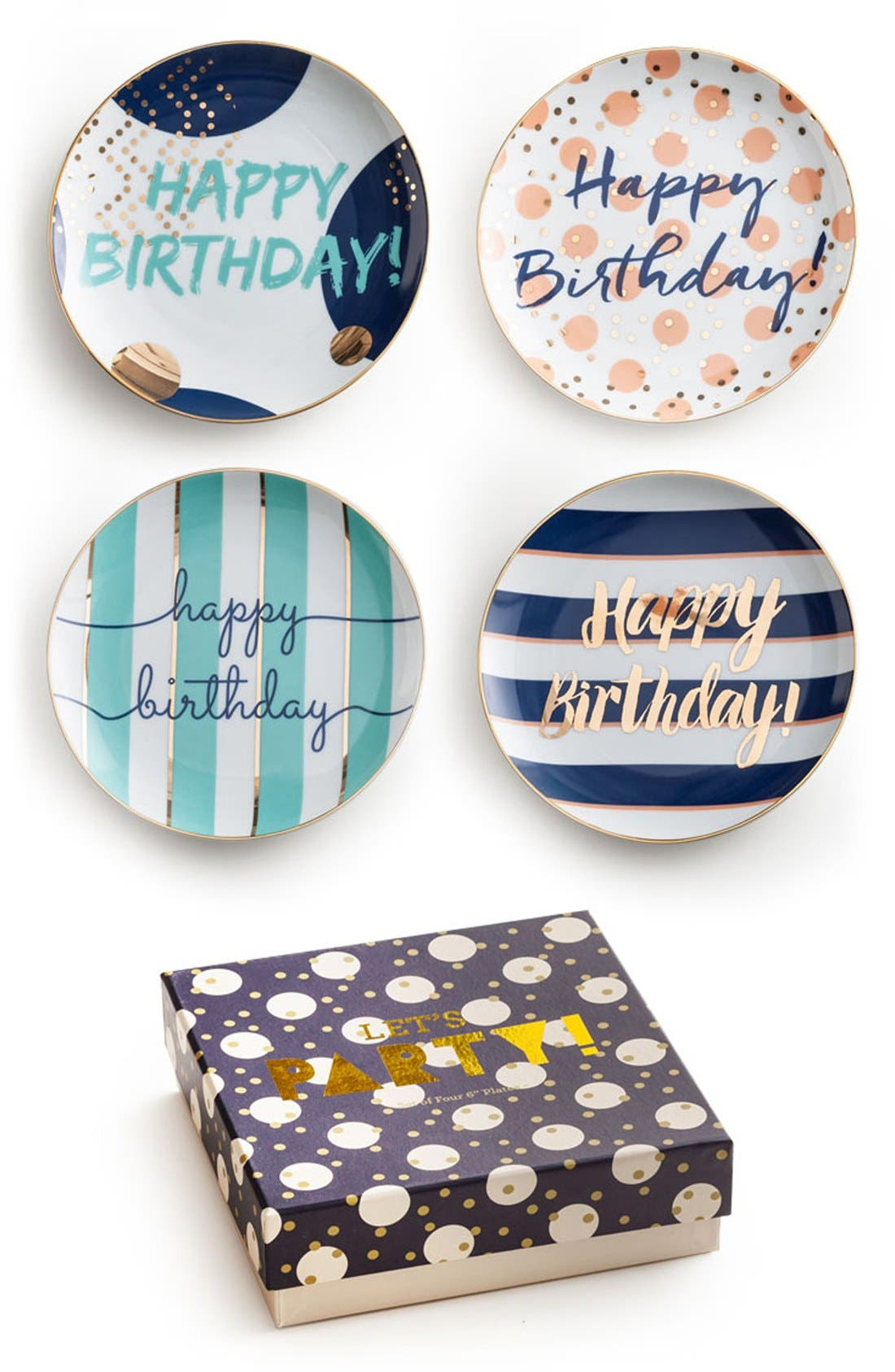 Rosanna 'Happy Birthday' Porcelain Plates (Set of 4)