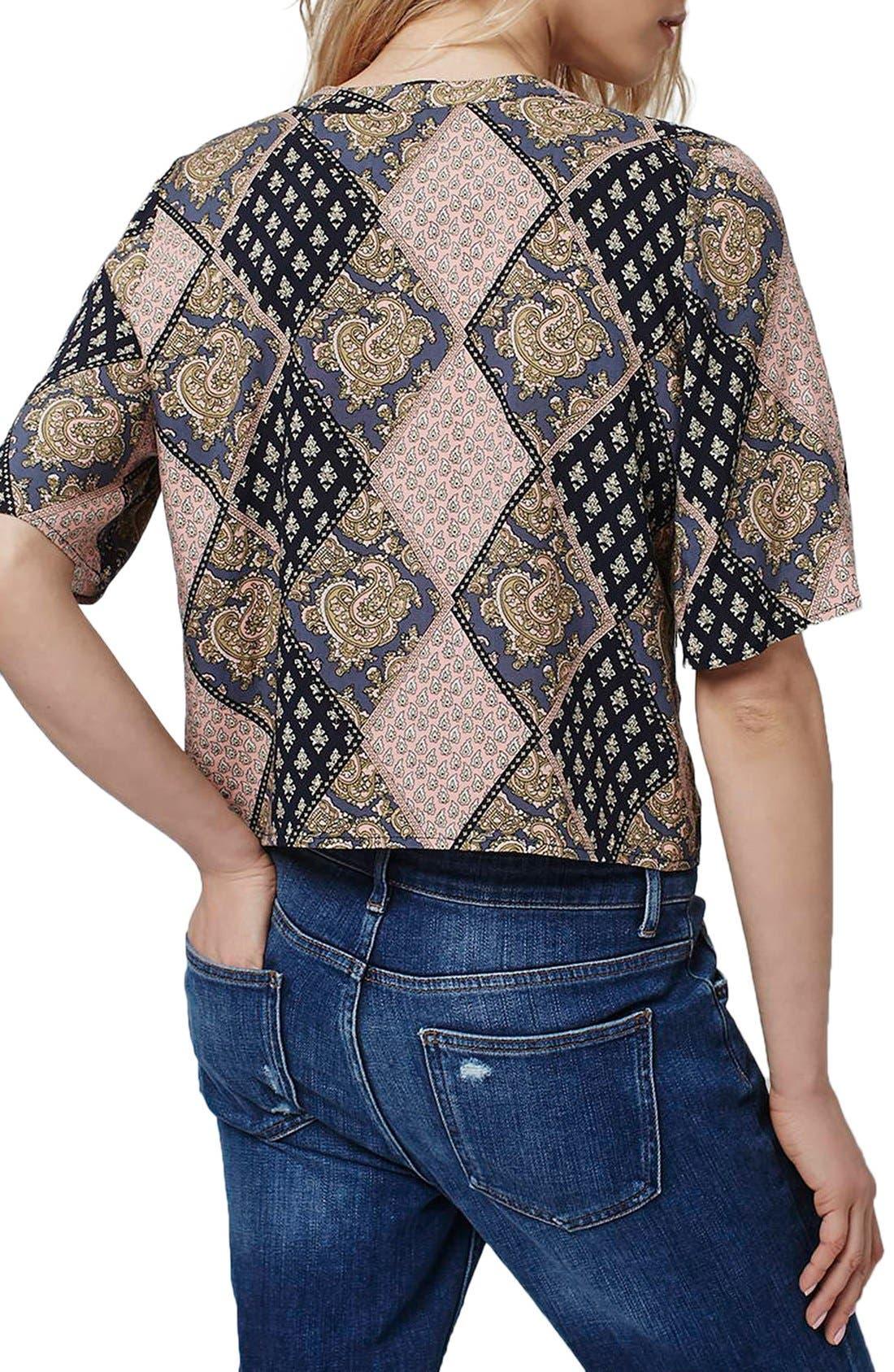 Alternate Image 3  - Topshop 'Holly' Tile Print Shirt