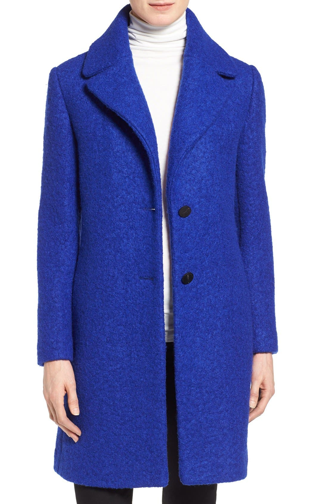Tahari 'Tessa' Boiled Wool Blend Coat