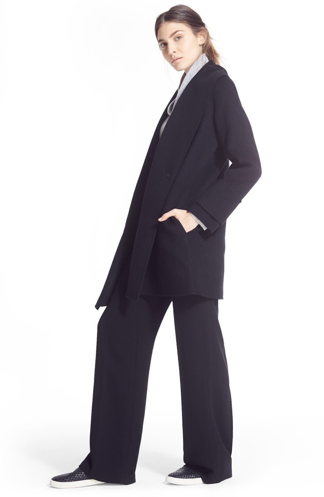 Alternate Image 6  - Vince Drape Neck Wool Blend Coat