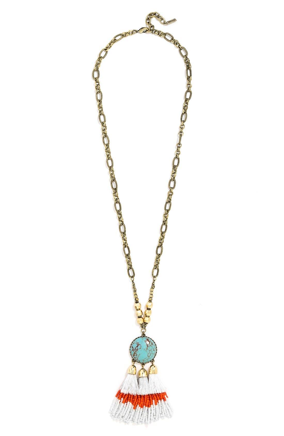 Alternate Image 3  - BaubleBar 'Rhodes' Tassel Pendant Necklace