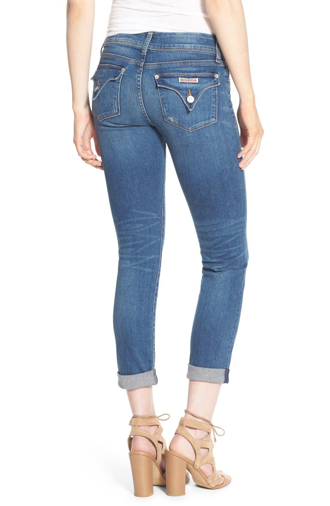 Alternate Image 2  - Hudson Jeans 'Ginny' Rolled Crop Jeans (Point Break)
