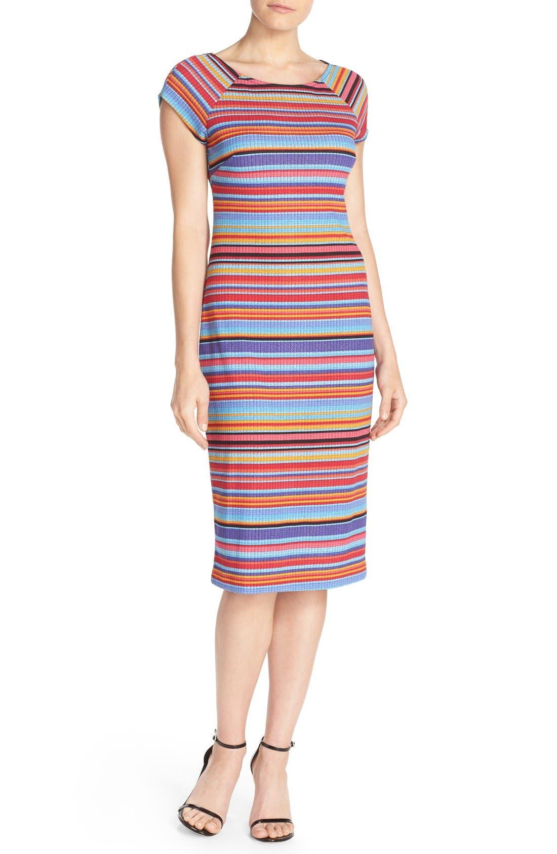 ECI Stripe Piqué Midi Dress
