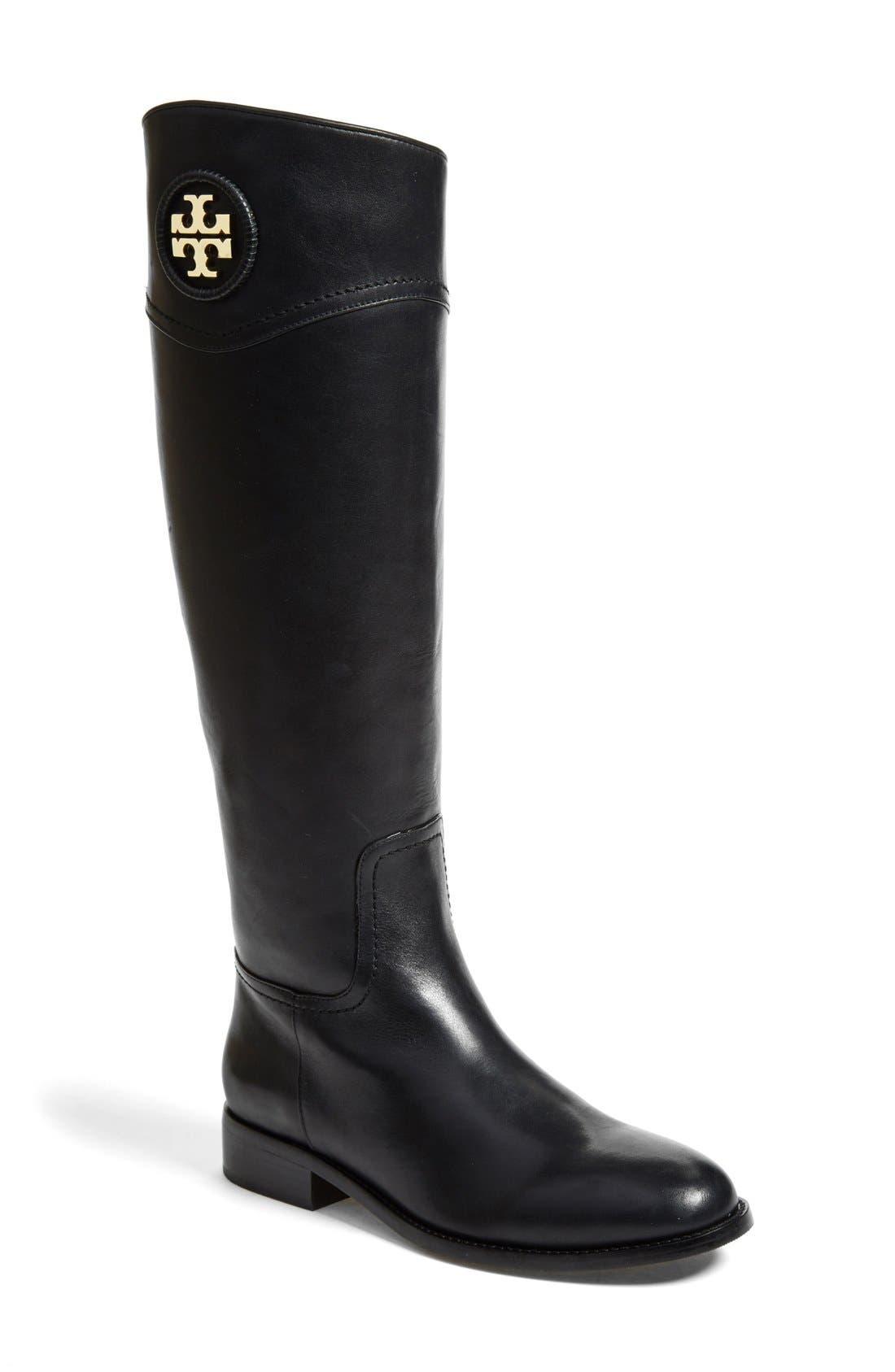 Main Image - Tory Burch 'Ashlynn' Wide Calf Riding Boot (Women)