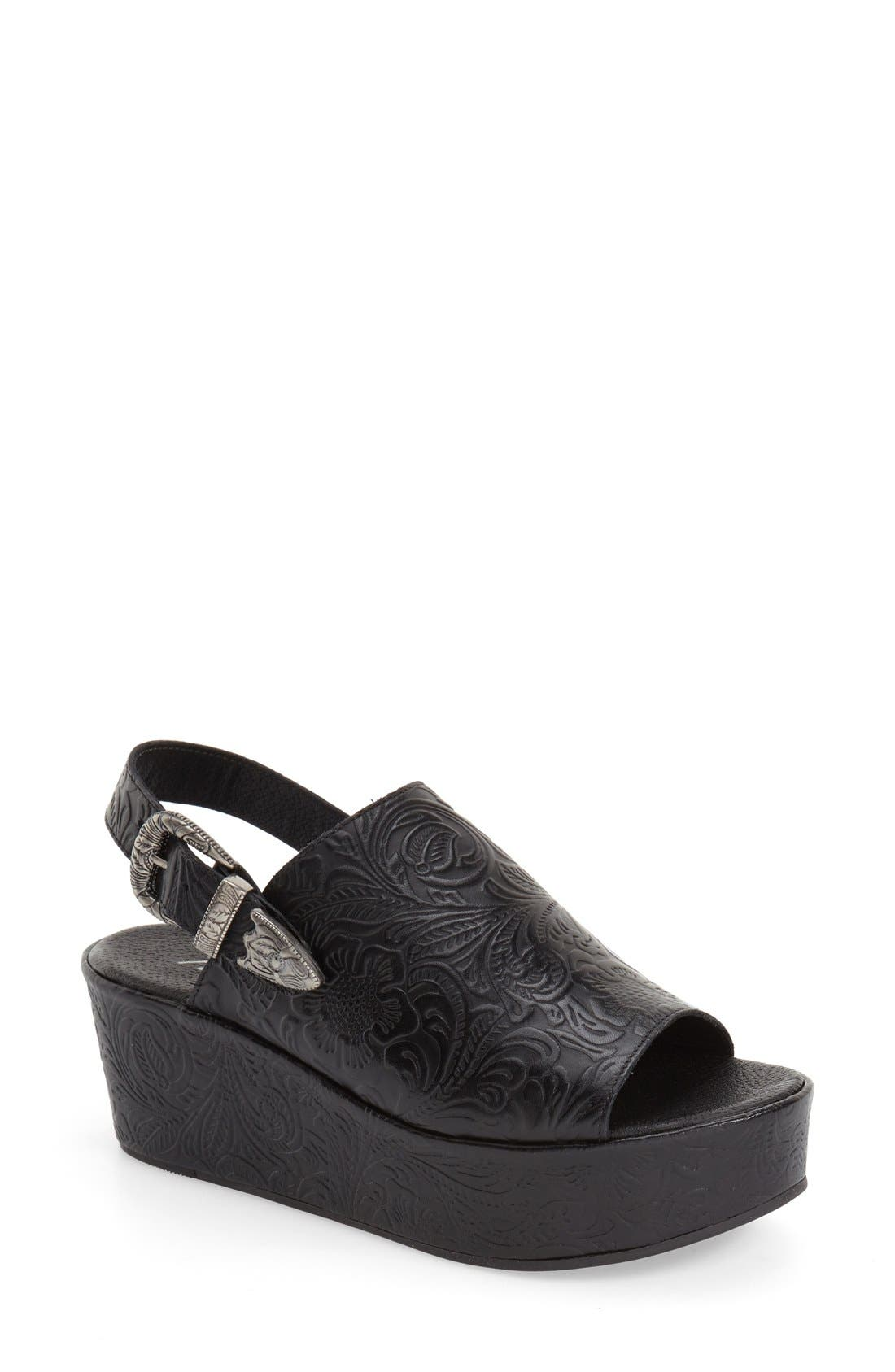 Alternate Image 1 Selected - Matisse Embossed Slingback Platform Sandal (Women)