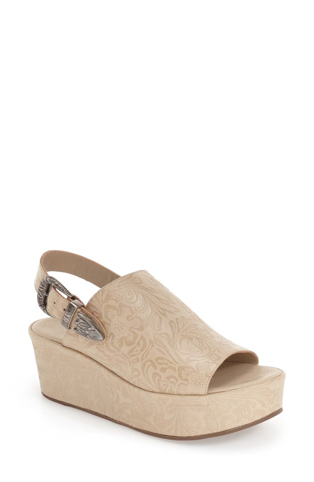 Matisse Embossed Slingback Platform Sandal (Women)