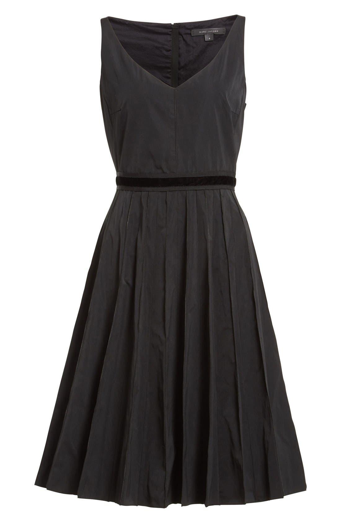Alternate Image 4  - MARC JACOBS Pleated Sleeveless Fit & Flare Dress