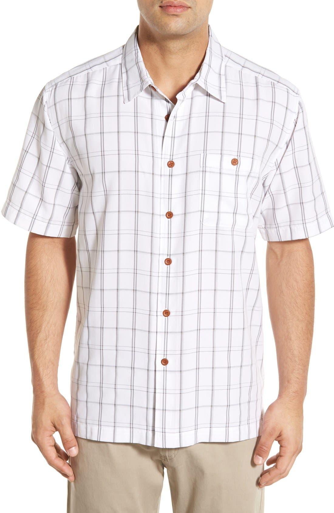 Quiksilver Waterman Collection 'Crow's Nest' Regular Fit Plaid Sport Shirt