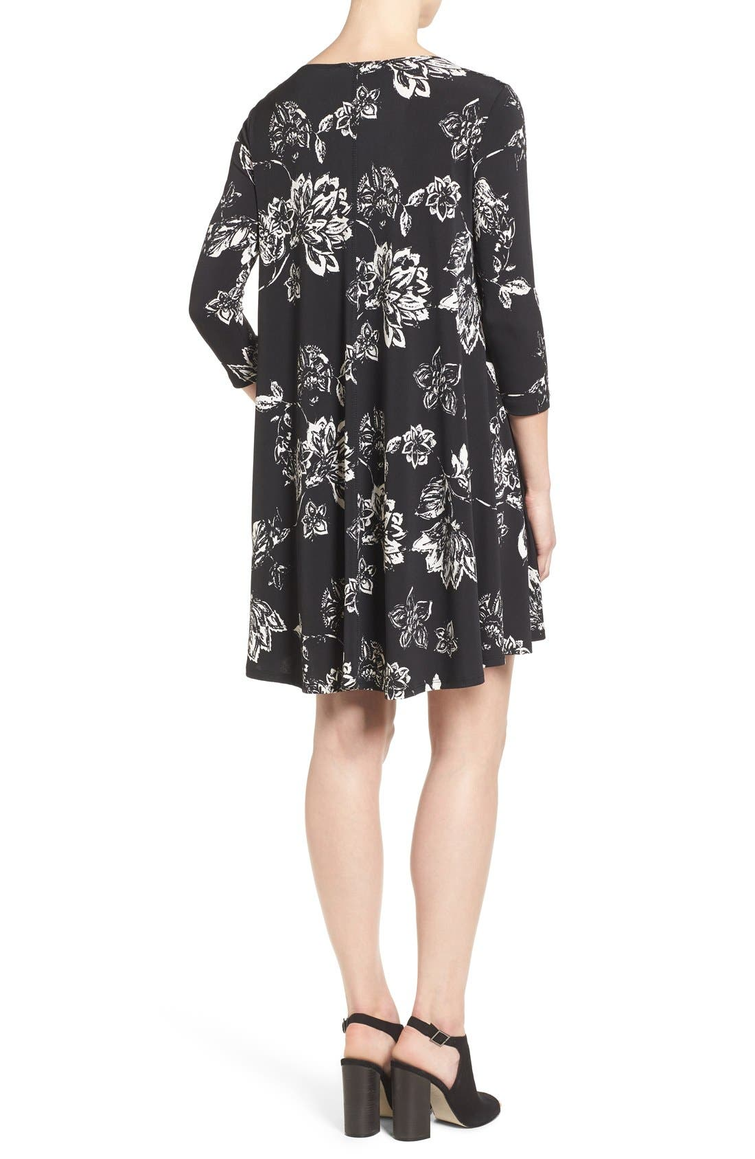 Alternate Image 2  - Karen Kane 'Maggie' Floral Print Trapeze Dress