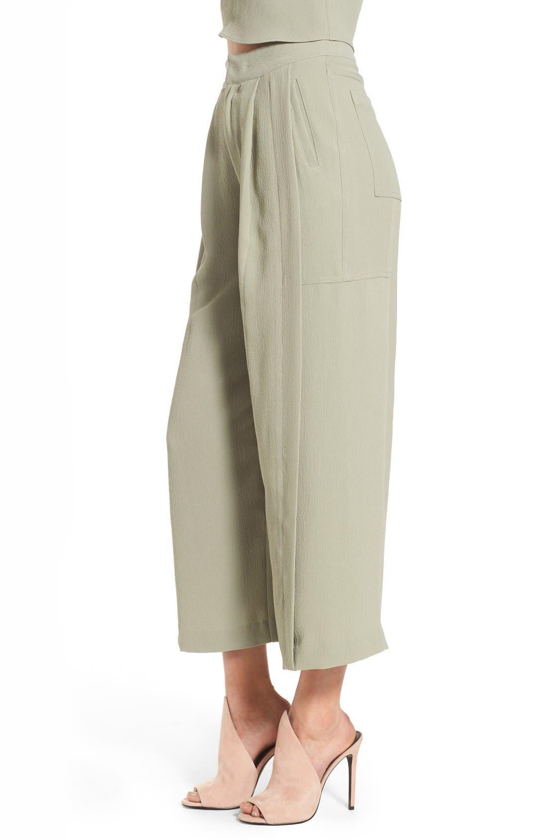 Alternate Image 4  - KENDALL + KYLIE High Waist Wide Leg Crop Pants