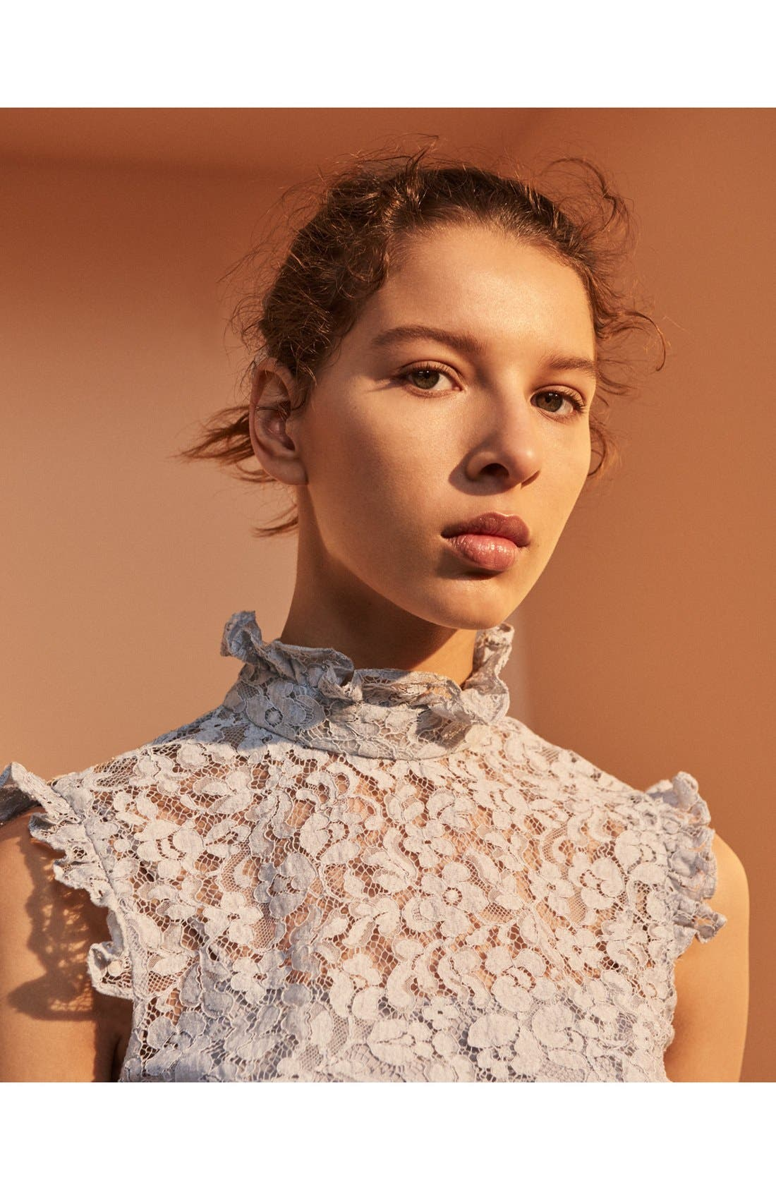 Alternate Image 7  - Erdem 'Mika' Floral Lace High Collar Blouse