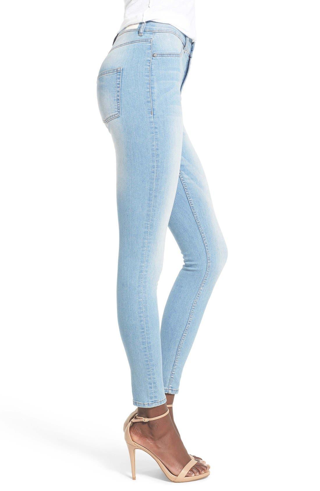 Alternate Image 3  - Cheap Monday 'High Spray' High Rise Skinny Jeans (Stone Bleach)