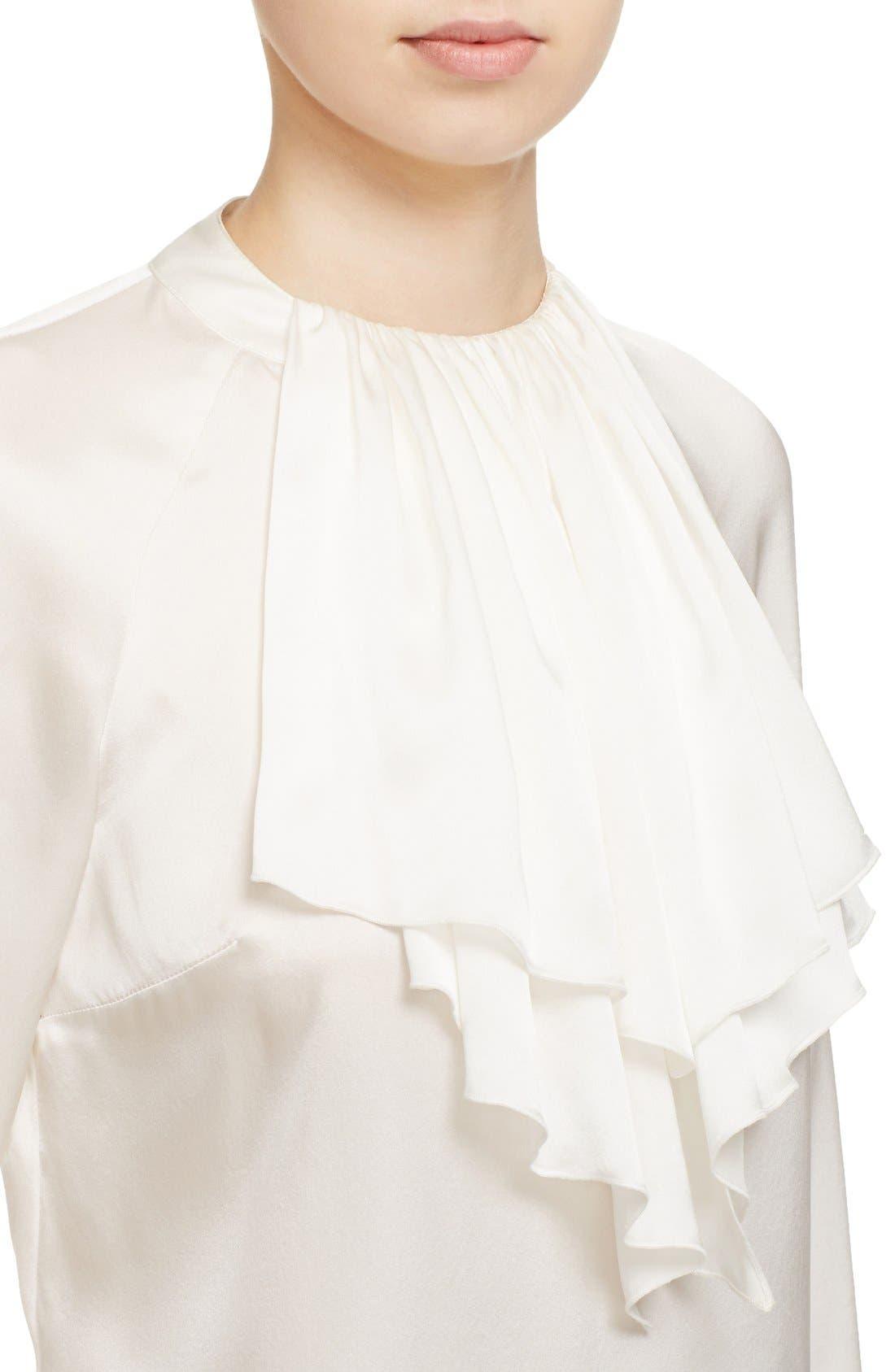 Alternate Image 4  - Veronica Beard 'Riverside' Ruffle Neck Silk Blouse