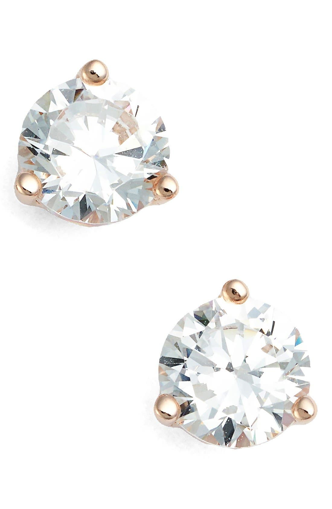 Nordstrom Precious Metal Plated 1ct tw Cubic Zirconia Earrings