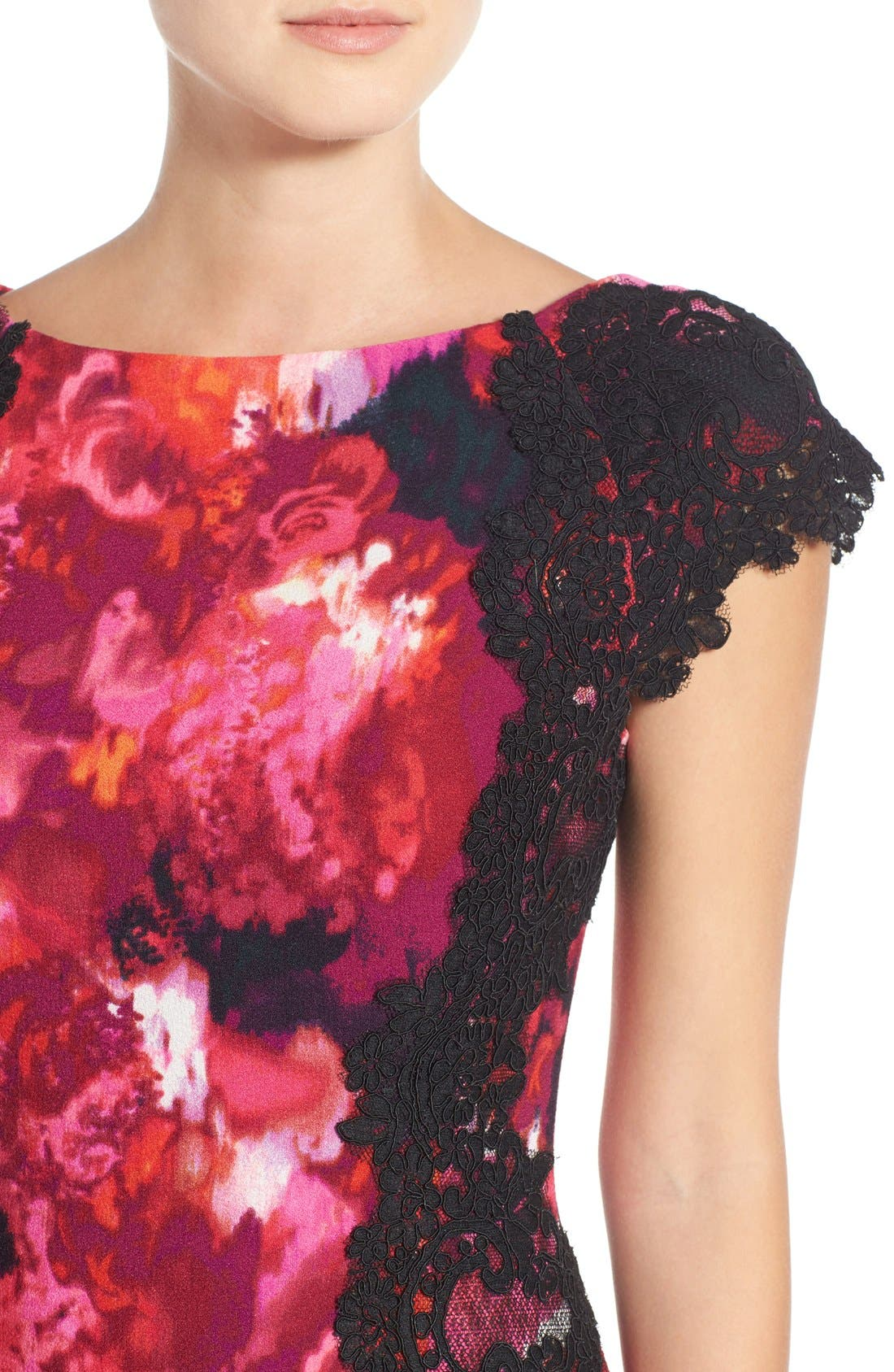 Alternate Image 5  - Maggy London Lace & Crepe Sheath Dress (Regular & Petite) (Nordstrom Exclusive)