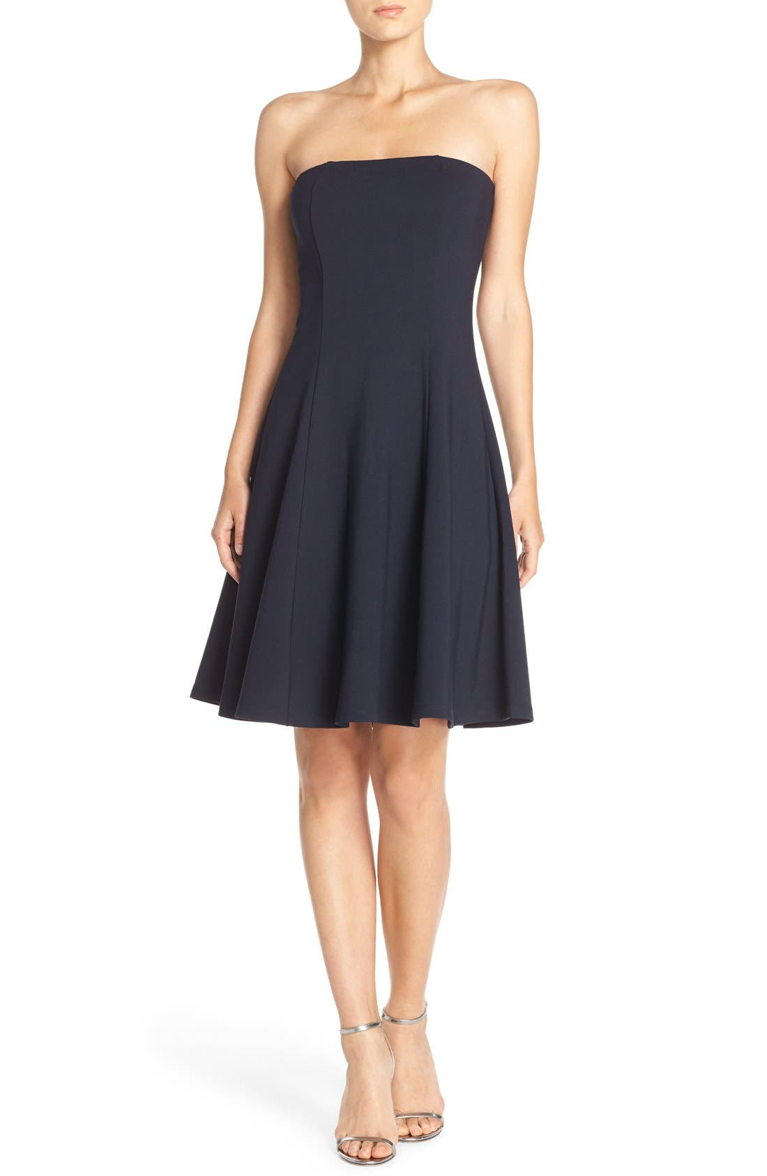 Alternate Image 4  - Felicity & Coco Strapless Fit & Flare Dress (Nordstrom Exclusive)
