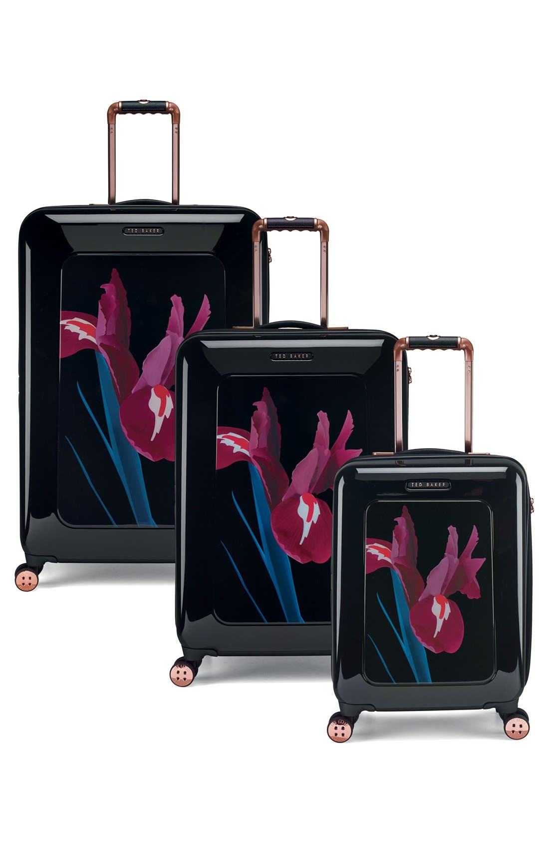 Alternate Image 6  - Ted Baker London 'Large Stencilled Stem' Four Wheel Suitcase (32 Inch)