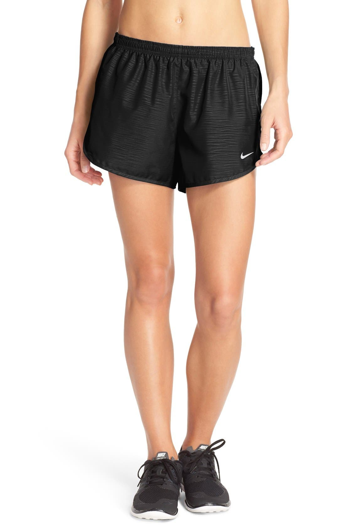 NIKE 'Modern Tempo' Embossed Running Shorts