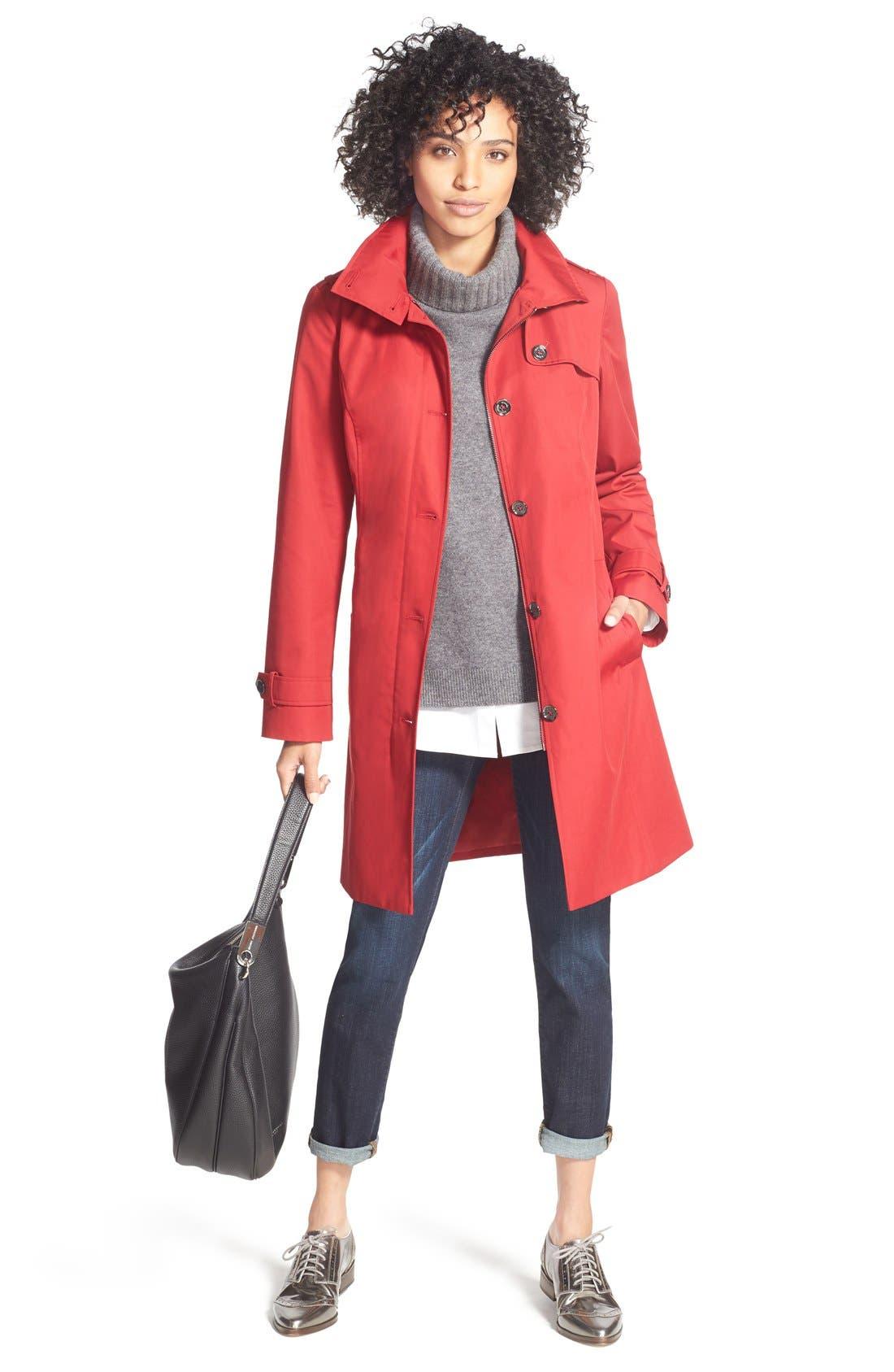 MICHAEL Michael Kors Trench Coat, Halogen® Sweater & Caslon® Jeans